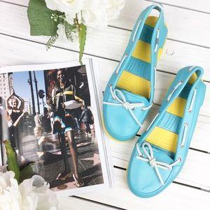 CROCS Stripe Beach Line Boat Shoes Sandals